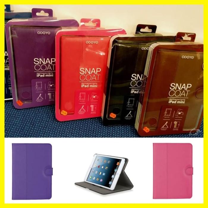 Foto Produk Genuine PU Cover IPad Mini 1 2 3 Odoyo Snap Casing Pad Lama Folio Case dari societyshop