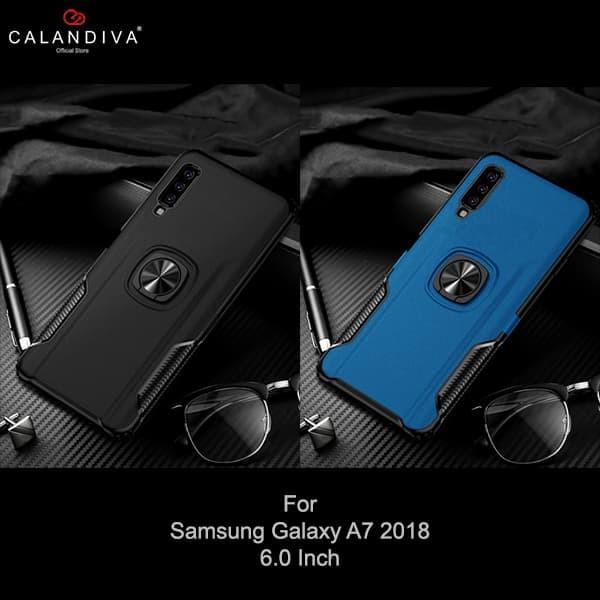 hot sale online 48100 577c5 Jual Calandiva Hard Case Samsung Galaxy A7 2018 Casing Ring Thunder - Black  - Kota Bekasi - Calandiva Official Store - OS   Tokopedia