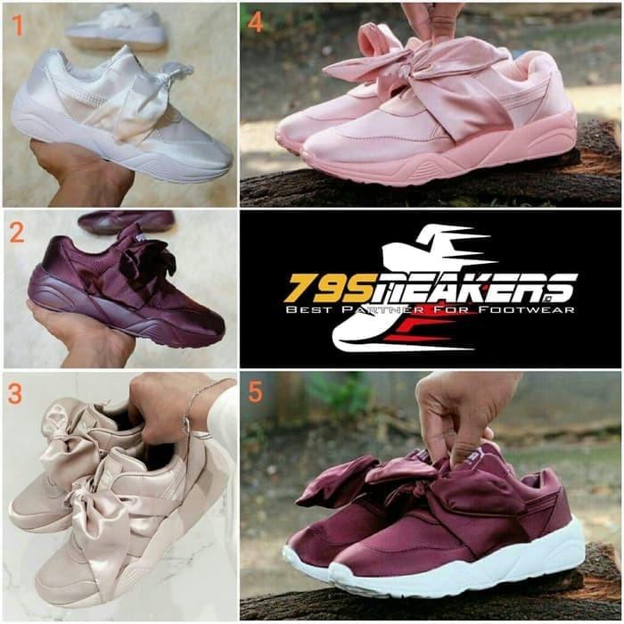 Puma Bow Rihanna Premium Original   Sepatu Kasual   Sepatu Wanita - Hitam 52b1452884