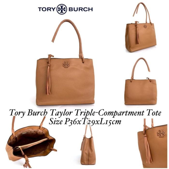 2b9f6c57cc4 Jual Tory Burch Taylor Triple-Compartment Tote C - Kota Administrasi ...