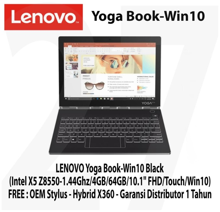 Jual LENOVO Yoga Book Intel X5 Z8550 4GB 64GB 10 1