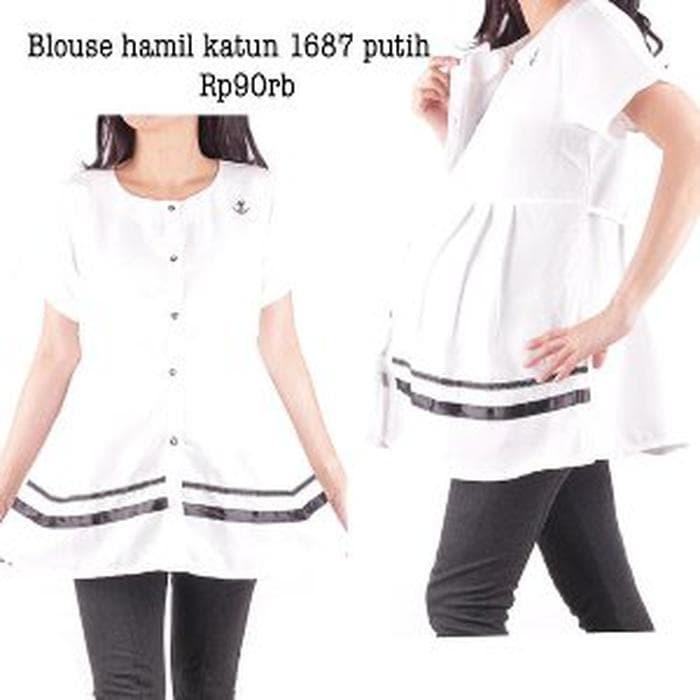 promo Hmill Baju hamil blouse menyusui 1687 .mhn di tulis warna yg d