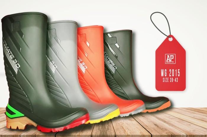Foto Produk AP BOOTS 2015 Ultimate Sepatu Safety Tinggi Panjang Tangguh Penuh Gaya - Hitam, 39 dari Sentral Stationery