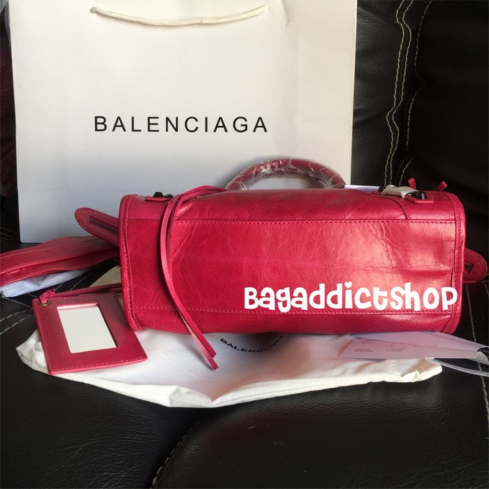 Jual Tas BALENCIAGA Small city Magenta Mirror import 1 1 Ori leather ... 056e5d72c2