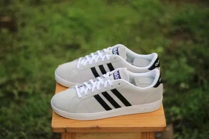 Jual sepatu adidas nike murah neo baseline Grey Suede Origianal DKI Jakarta My Shoes Gochiel | Tokopedia