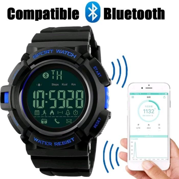 Jam Tangan SKMEI Olahraga Smartwatch Bluetooth Dg 1245 Bl Original
