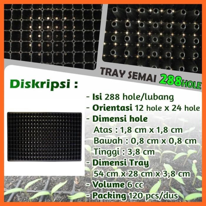 Foto Produk Tray Semai Pot Tray - Bibit Untuk Benih Tanaman 288 Hole dari Sarana Sukses Berkat
