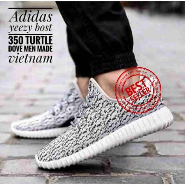 2591570476eb Sepatu Adidas Yeezy Import Original Boost 350 Turtle Dove - Black Pirate