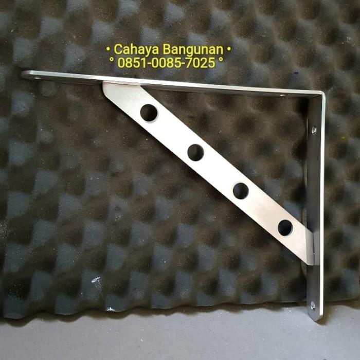 harga Siku l rak dinding bracket braket ambalan tv stainless besi 30cm 30 cm Tokopedia.com