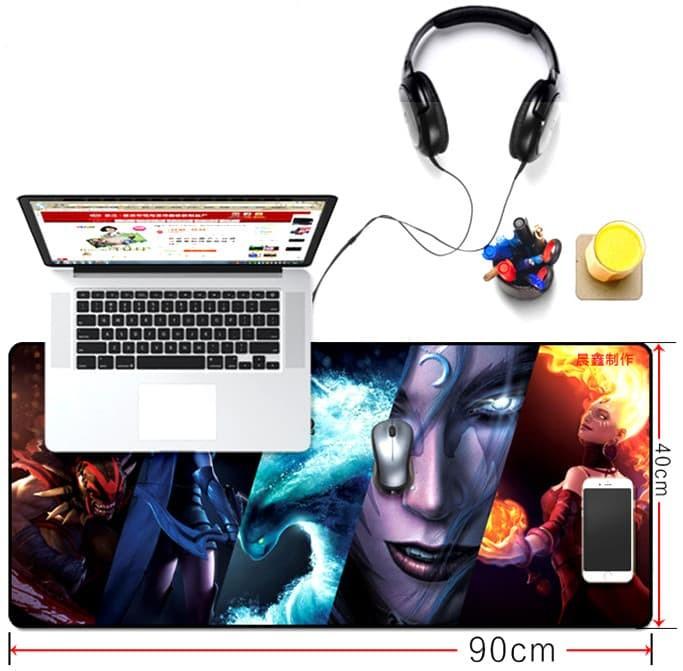Alas Mouse Pad DOTA Game Size 40 x 90 cm Multiwarna