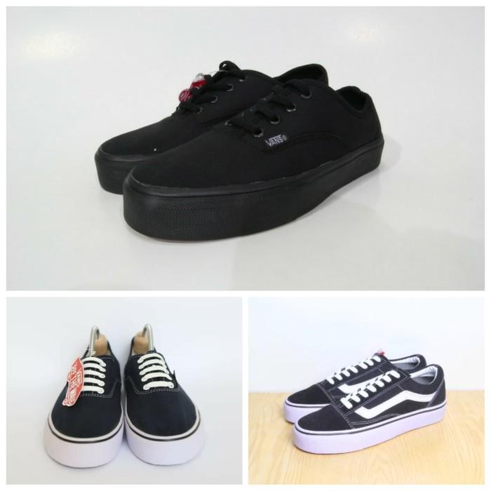 Sepatu Vans Authentic waffle ICC california full black hitam grade ori -  Hitam 1196269659