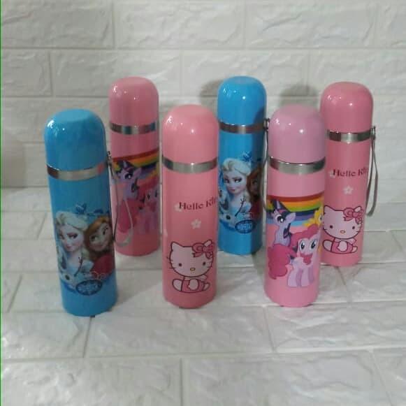 Termos Anak Karakter Hello Kitty Keroppi Frozen Car Botol Minum Animal