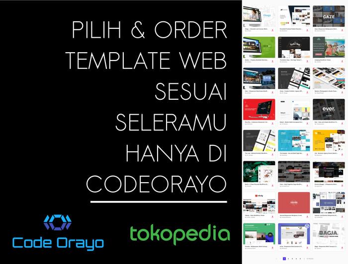 Jual 100 Template HTML + 10 Dashboard / Admin Premium Themeforest ORIGINAL  - Kab  Sleman - Code Orayo | Tokopedia