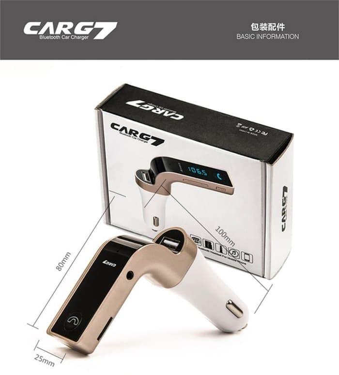 Foto Produk CAR G7 FM Transmitter Bluetooth Modulator Saver Charger Mobil - Hit dari Y42N.ACC