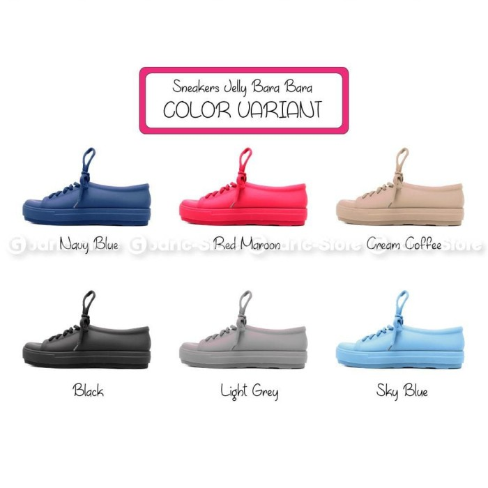 Bara Bara Sepatu Jelly Sneakers Silikon Shoes Cewek Silicone Kets 6382 003b068586