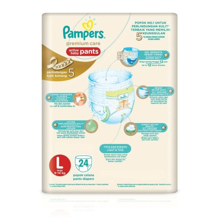 Pampers Popok Celana Premium Care L 6X24 P G