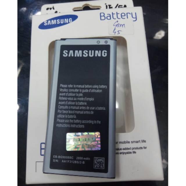 baterai ORIGINAL Samsung s5 g900 batre batere batrei baterei battery