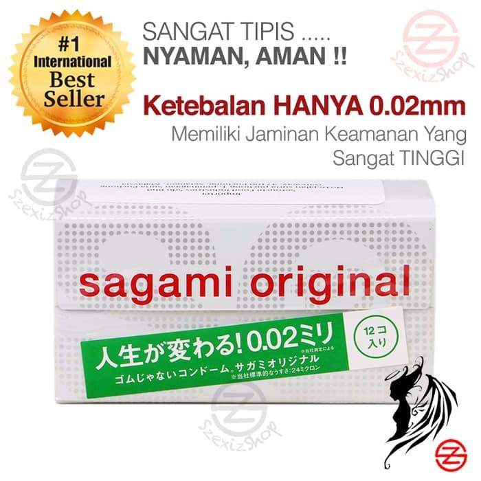BEST SELLER AWAL TAHUN SAGAMI KONDOM ORIGINAL 002MM NONLATEX 12