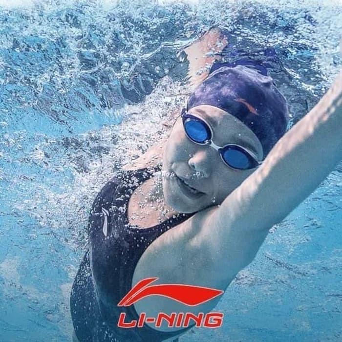 Jual Murah LI-NING Topi Renang Penutup Kepala Silicone Swimming Cap ... 98106a12da