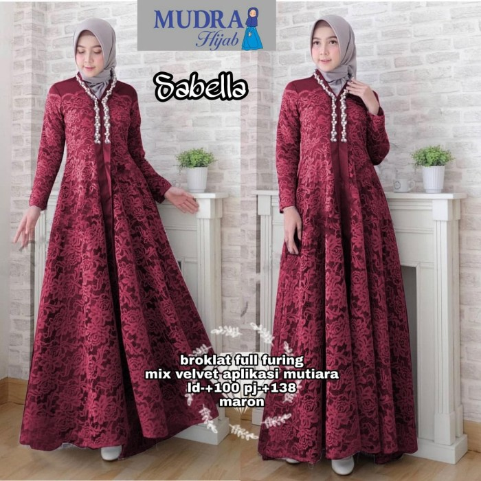 harga Md- sabella dress / maxi dress brokat / dress muslim Tokopedia.com