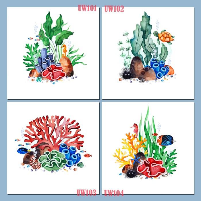 Jual Poster Size 20x20cm Ilustrasi Flora Dan Fauna Dasar Laut Underwater Kab Malang C45 Channel Tokopedia