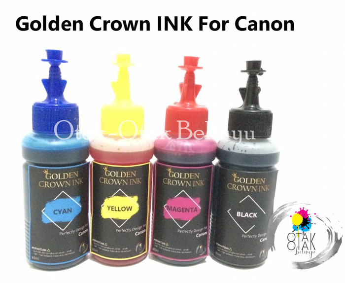 Foto Produk Paket Tinta Canon G1000,G2000,G3000 Golden Crown Ink 80 mL dari Otak-Otak Belinyu