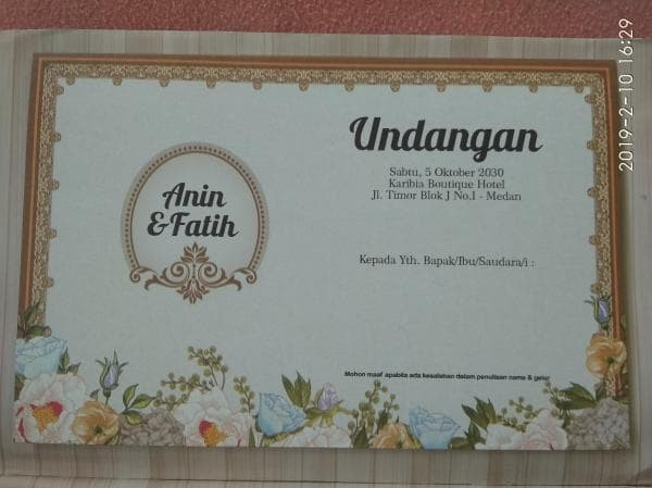 Jual Surat Undangan Pernikahan Murah Motip Mantap Kota Serang Qsa Mandiri Tokopedia