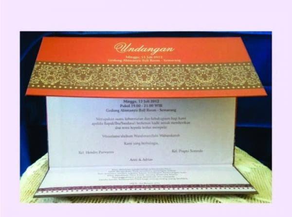 Jual Surat Undangan Pernikahan Elegan Hardcover Tebal Lipat 3