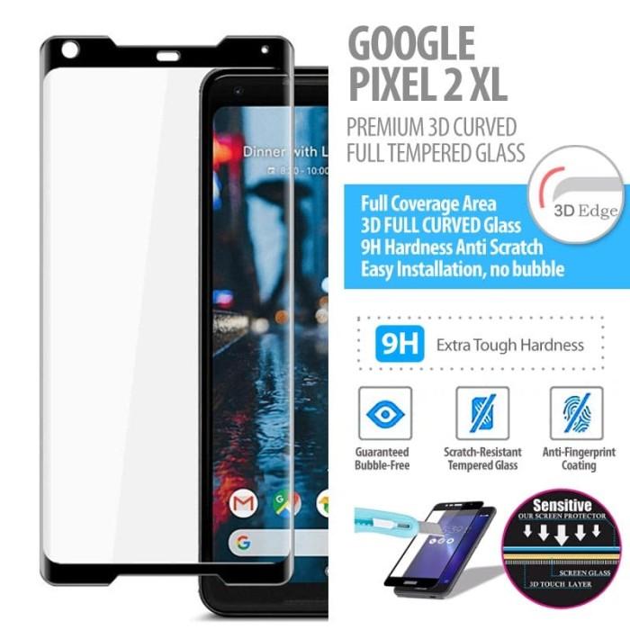 Foto Produk Google Pixel 2 XL - Premium 3D Curved Full Tempered Glass dari Bungkusgan