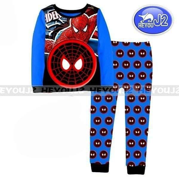 Piyama Spiderman Warna Biru Baju Tidur Anak Laki-laki Branded Karakter - 5-6  tahun f73130241c
