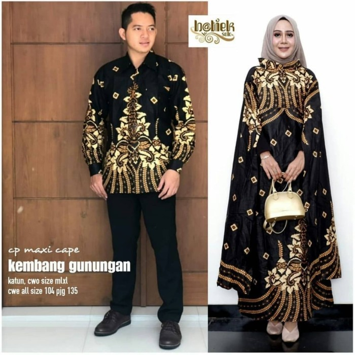 67 Gambar Baju Batik Hijab Modern Paling Bagus