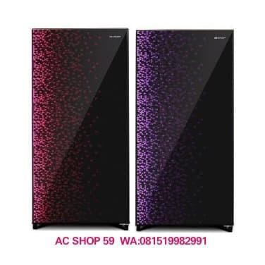 KULKAS SHARP SJ-X165MG-GB/GR 1 PINTU SHINE MAGNEGLASS SERIES NEW