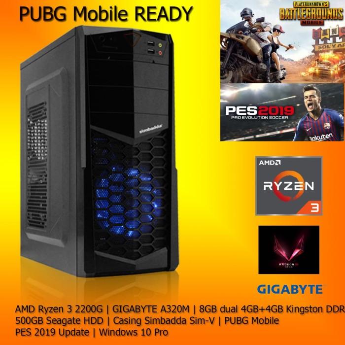Jual PC Gaming Ryzen 3 2200G 8GB RAM Motherboard Gigabyte