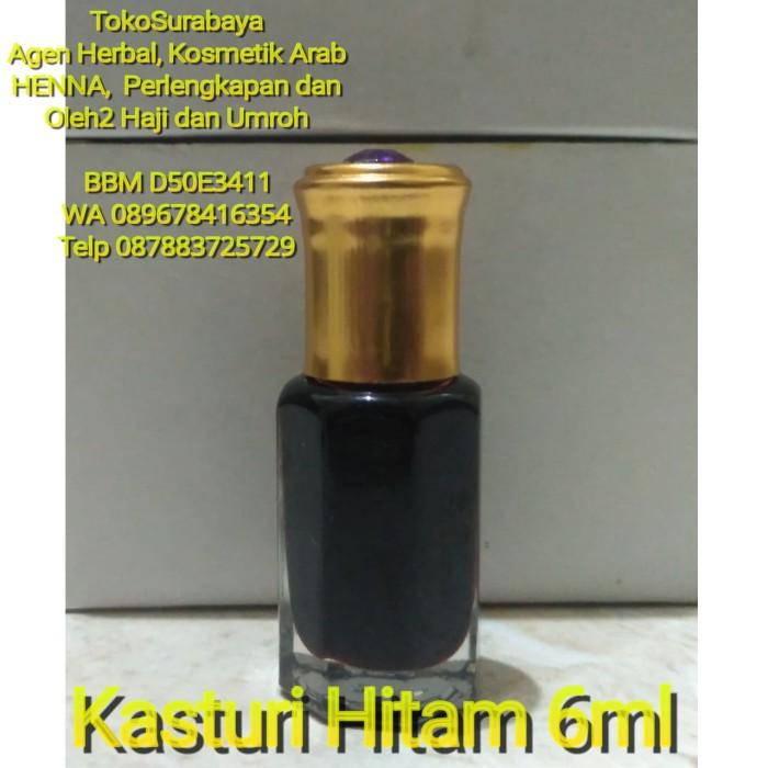 Minyak Wangi Parfum Kasturi Hitam Cobra Asli Arab Saudi 6ml 6 ml Misk