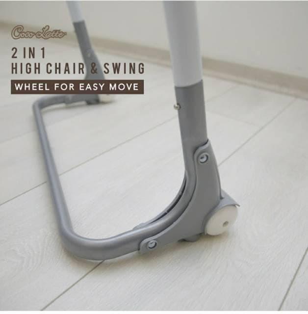 Kursi Makan High Chair dan Swing Ayunan 2in1 Cocolatte CL70ML