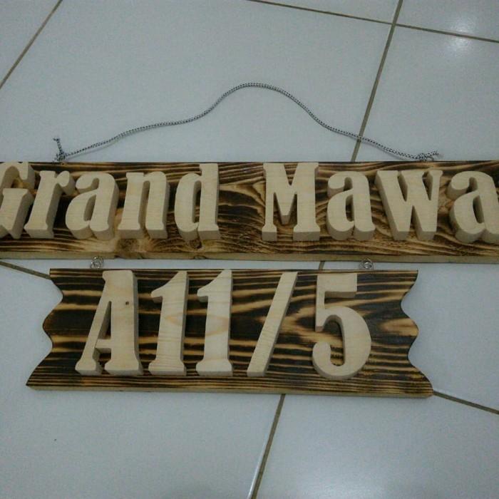 Foto Produk Bikin blok nomor rumah perumahan custom dari kayu jati belanda dari syakila collections