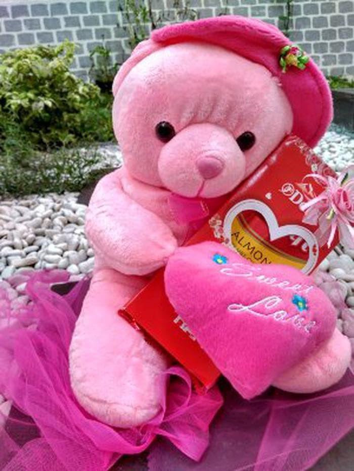 Jual Kado Hadiah Hampers Coklat Bunga Boneka Valentine Bear H Berkualitas Kota Tangerang Shope 4 Tokopedia
