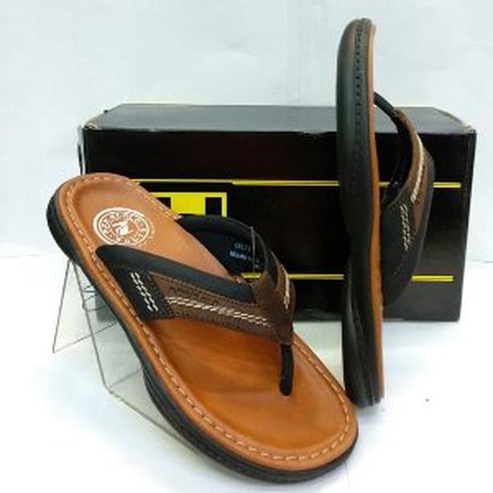 sandal kulit pakalolo N 0871 brown 39-43 original Berkualitas
