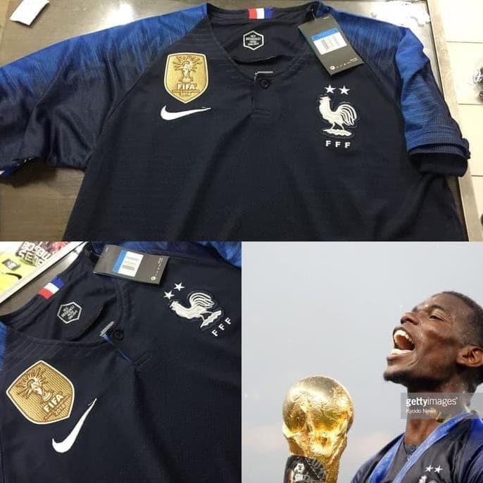 68d99c5fbb2 Jual JERSEY BAJU BOLA PRANCIS   FRANCE HOME WORLD CUP 2018 GRADE ORI ...