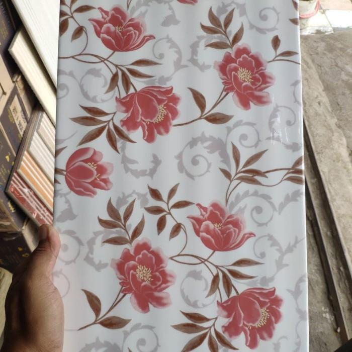 Jual Keramik Dinding Motif Bunga Uk 25x40 Type Davina Pink Kab Bogor Abie Granit Tokopedia