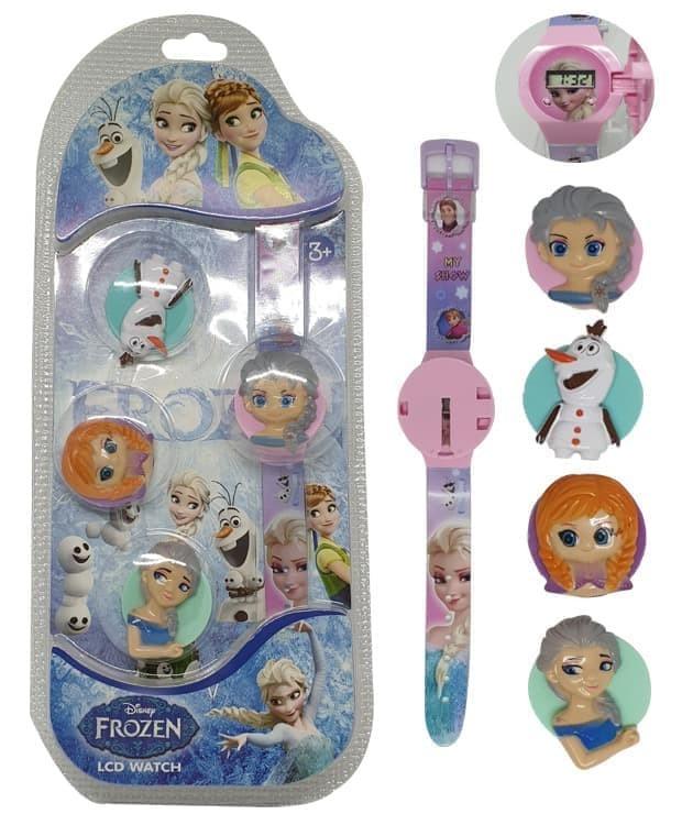 Jam tangan anak ganti kepala 4 in 1 motif frozen anna elsa