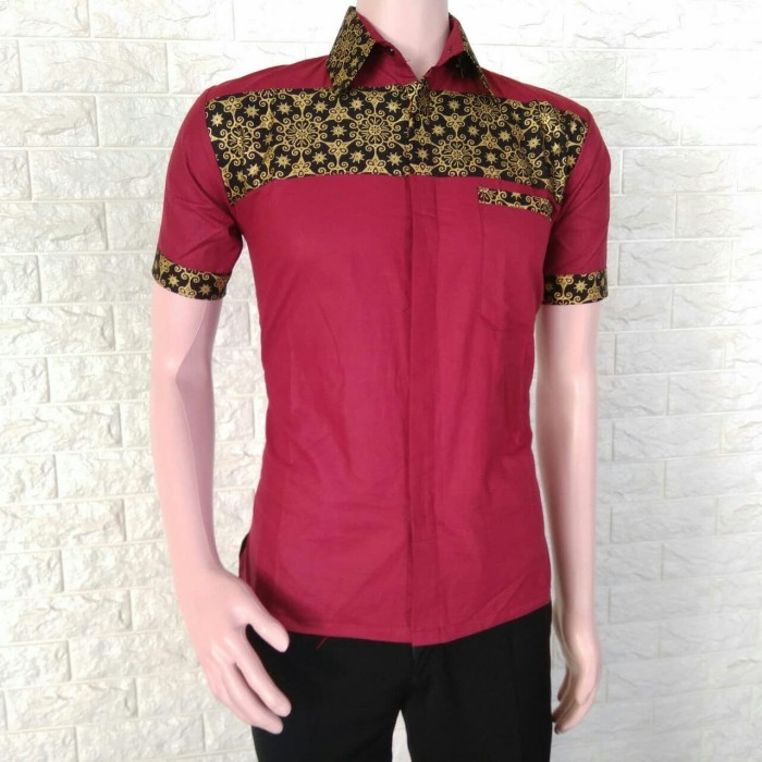 Jual Model Baju Kemeja Batik Modern Pria Batik Kerja Batik Rang2 01 Merah Kota Yogyakarta Grosir Kemeja Batik Pria Tokopedia