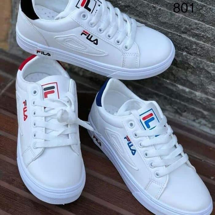 Jual Sepatu Sneakers Wanita Fila DEA Warna Putih Hitam 94546e0ec7