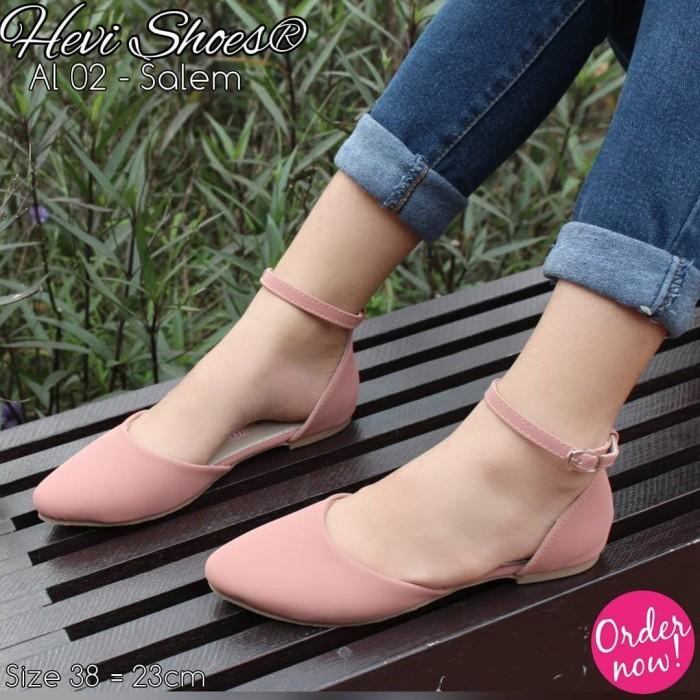 Fsb - Sepatu Flat Shoes Tali Wanita (AL02 - Series) - ,