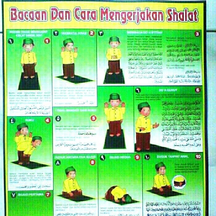 Jual poster bacaan dan tata cara sholat - Kota Bekasi ...