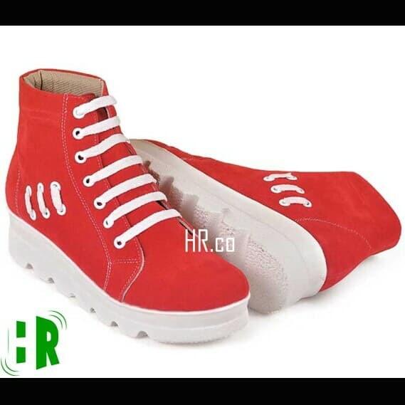 harga Sepatu boot cewek casual boots wedges merah distro fashion wanita Tokopedia.com