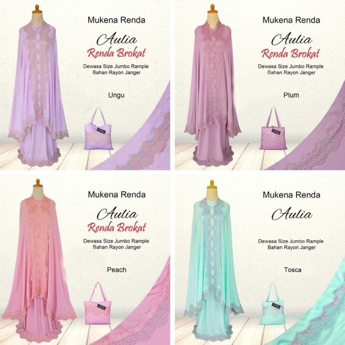 Mukena Cewek Bali Dewasa Renda Brokat Jepang Fashion Mukena Wanita - Peach