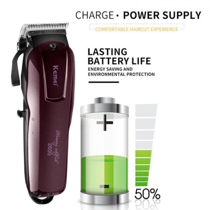 KEMEI Magic Clip Cordless Rechargable Electric Hair Trimmer KM-2600
