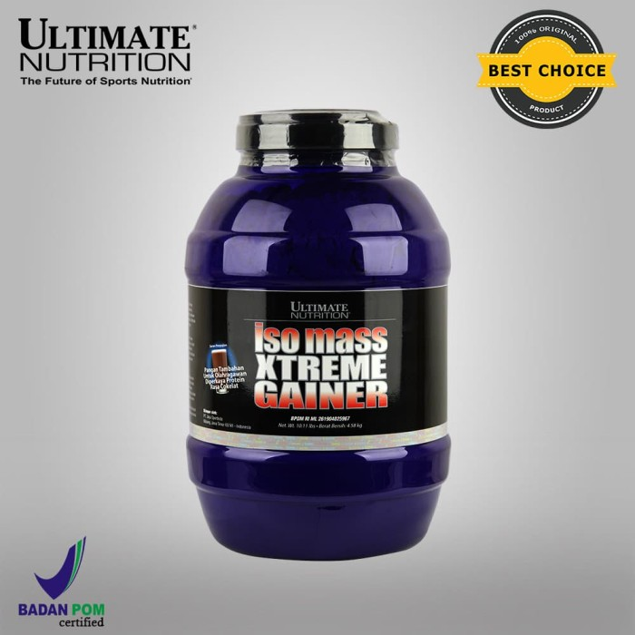 Foto Produk Iso Mass Xtreme Gainer (Chocolate), 10.11 lbs - Ultimate Nutrition dari Ultimate Nutrition