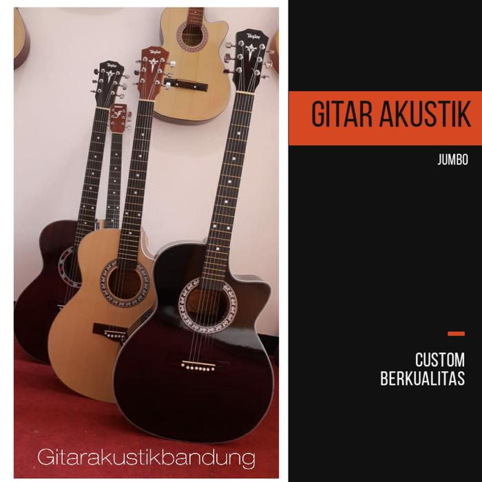 harga Gitar akustik murah kayu asli colour ready gojek bandung Tokopedia.com